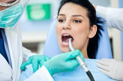 woman during preventative dentistry exam in kingsport tn