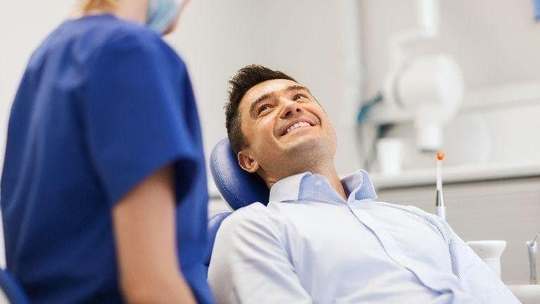 Man in Dentist Chair | Kingsport Dentistry