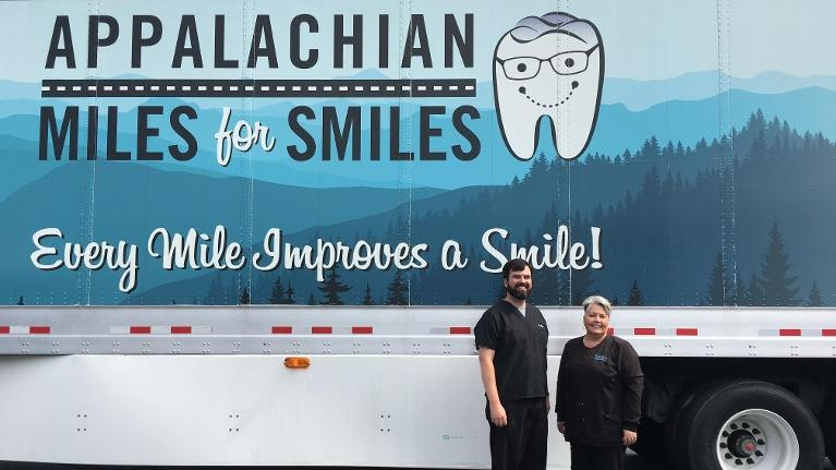 Dr. Hagan And Carol with the Appalachian Miles for Smiles